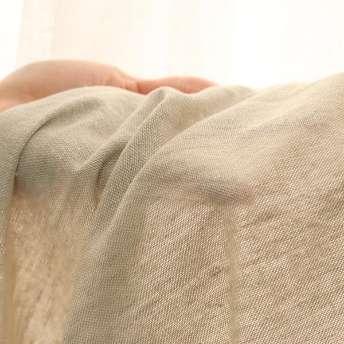 洗いざらしの風合いと、淡い色合いのシンプル無地カーテン『キラフ グレー』