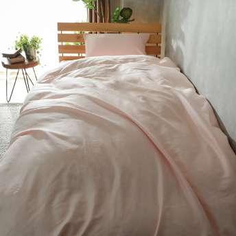 上品な光沢が美しい綿100%サテン織の寝装品『EXサテン ピンク』