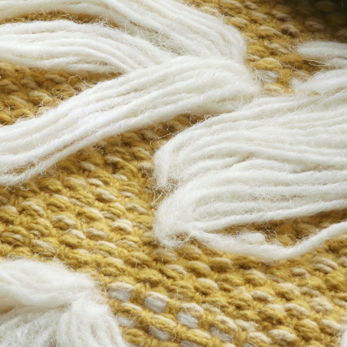 平織の部分。丁寧に織り込まれています。