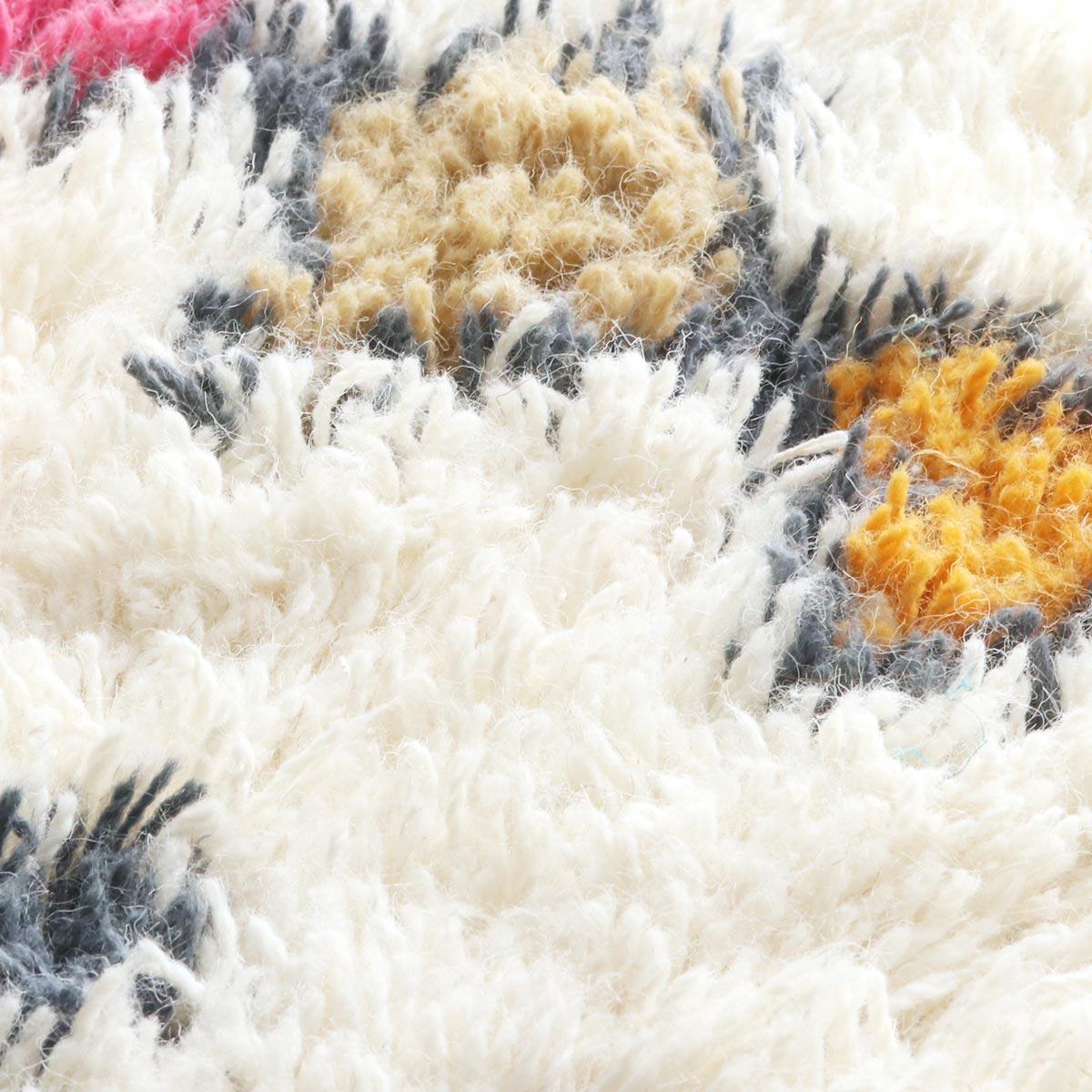 インド産ウール100%シャギーラグ『ラハーラ』