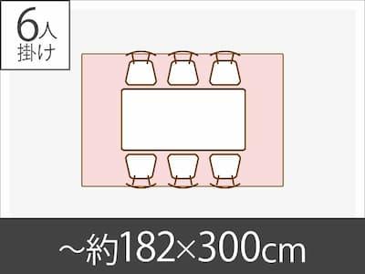 〜約182x300cm