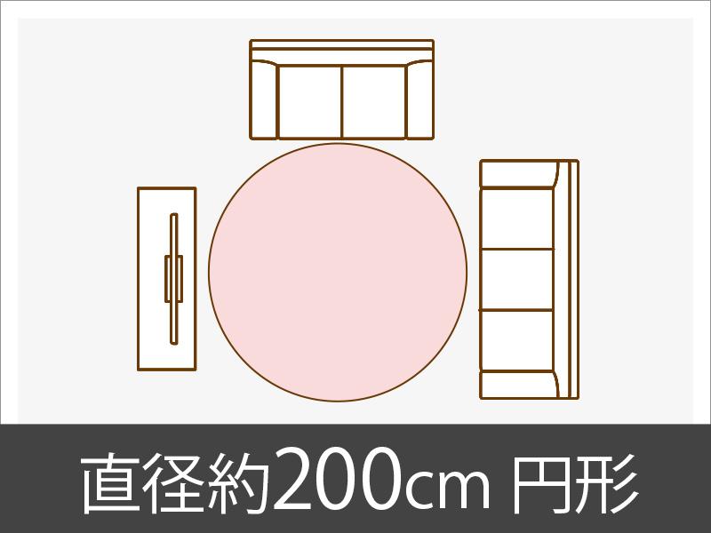 直径約200cm円形