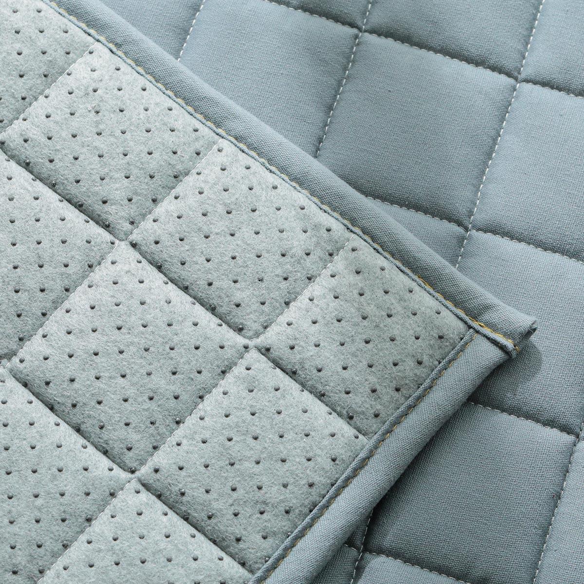 裏面はスベリ止め加工付。床暖・ホットカーペット対応。