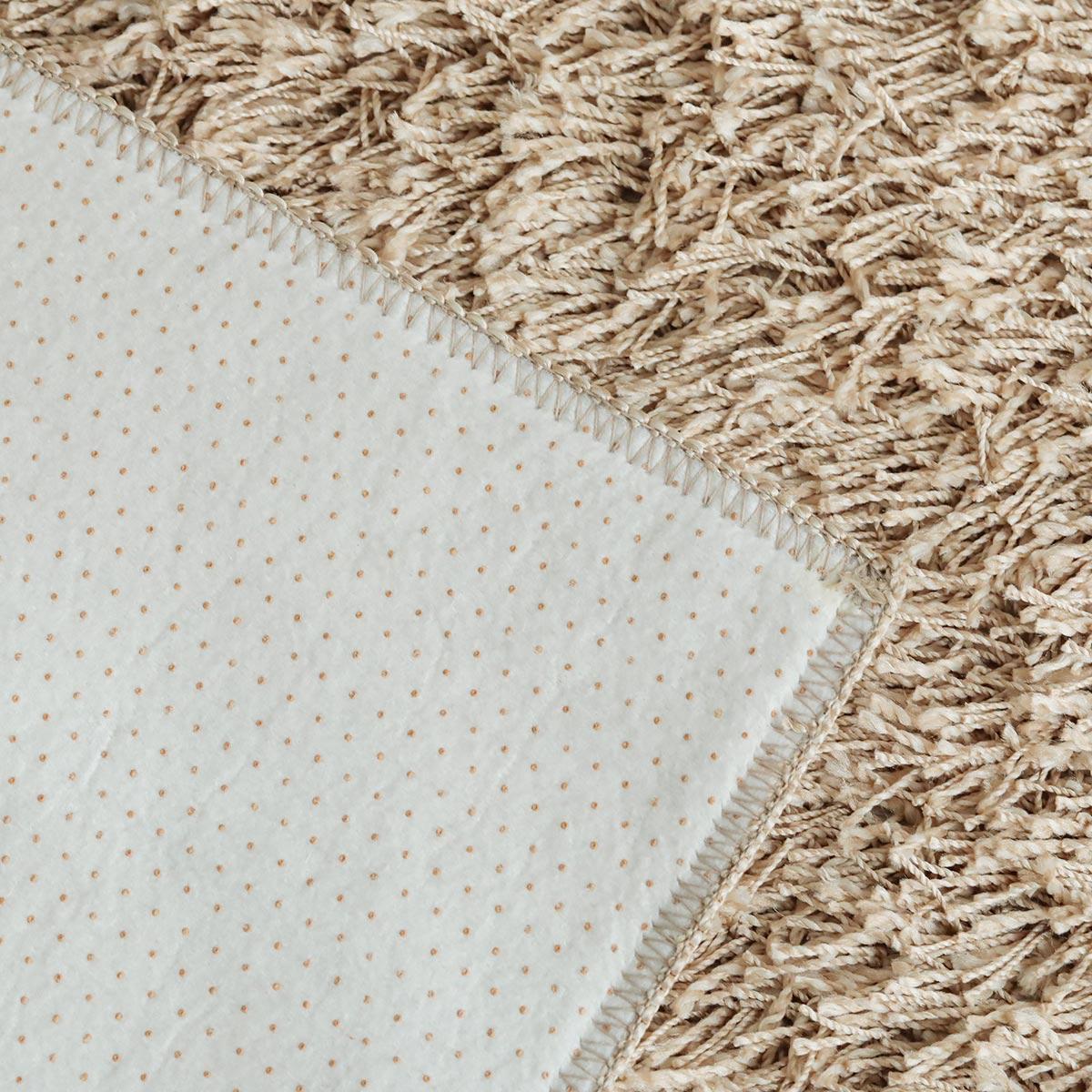 裏面は医療用素材の安心スベリ止め付き。床暖・ホットカーペット対応です。