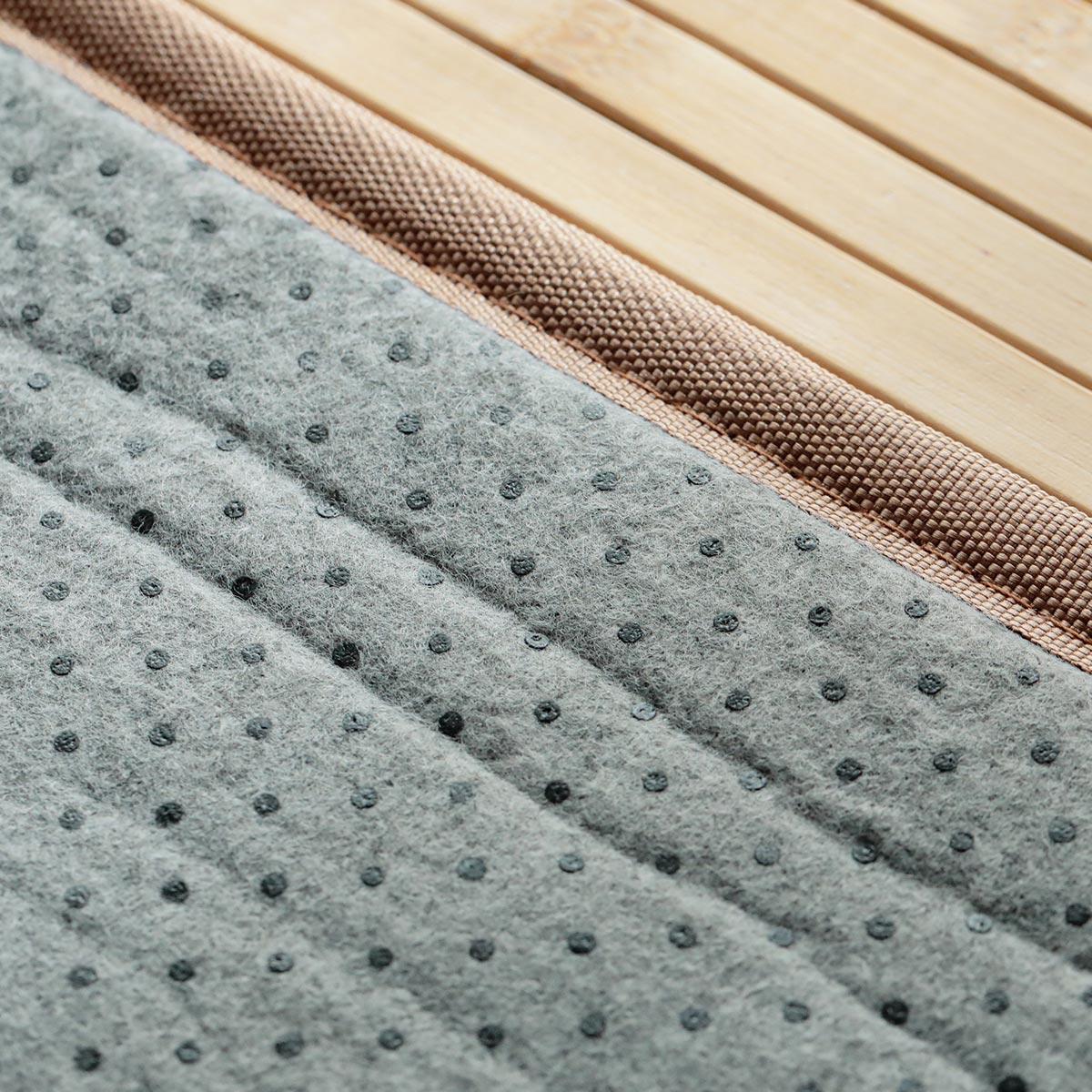 裏は滑り止め付きの不織布張りです。