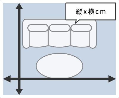センター敷きタイプ採寸方法